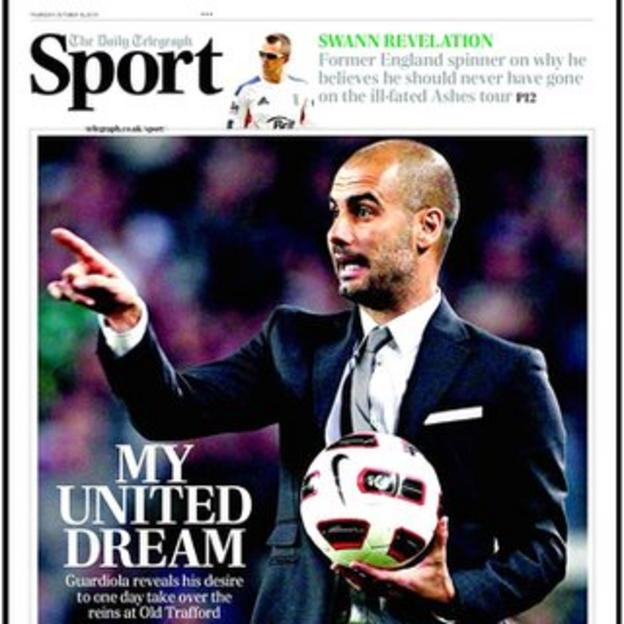 Thursday's Daily Telegraph sports supplement