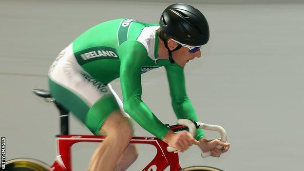Martyn Irvine was Ireland's first medallist in modern track championships.