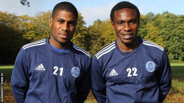 Andre McCollin and Manny Oyeleke