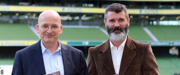 Author Roddy Doyle and Roy Keane
