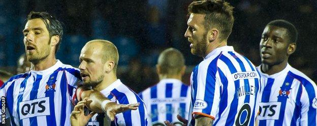 Kilmarnock players are in dispute over end of season payments