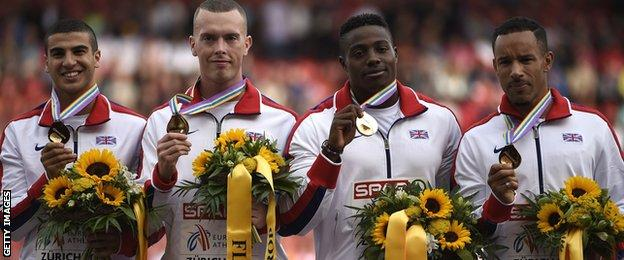 Great Britain's 4x100m men's team