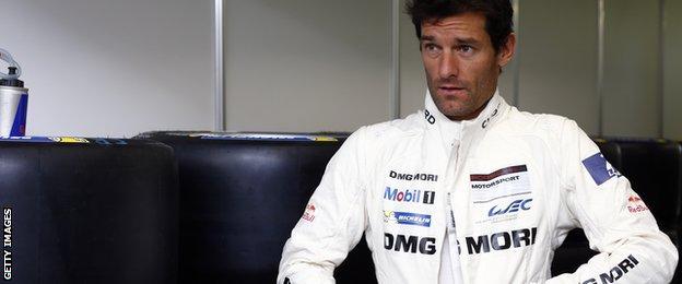 Mark Webber drove for Porsche Team in the Le Mans 24 hour race