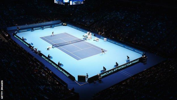 The ATP Tour finals at the O2 Arena