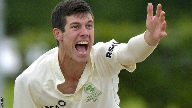 Irish spinner George Dockrell signed a new contract with Somerset earlier this month