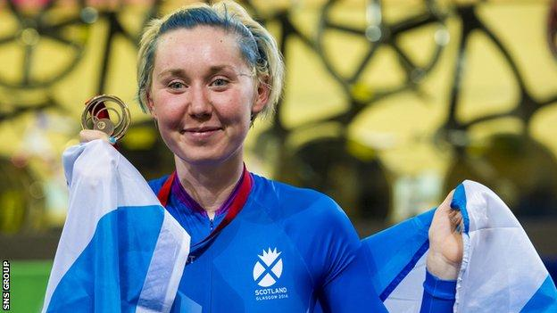 Katie Archibald won bronze in the Women's 25km Points Race in Glasgow