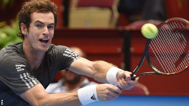 Andy Murray at the Vienna Open