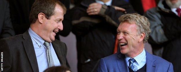 Alistair Campbell and David Moyes