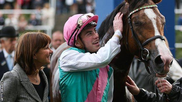Lady Jane Cecil, James Doyle and race horse Noble Mission at Ascot