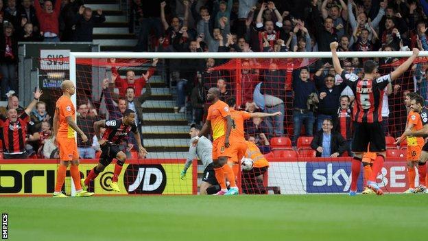 Callum Wilson scores for Bournemouth
