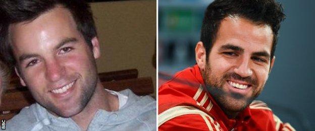 Warren August sends a picture of him looking like Cesc Fabregas