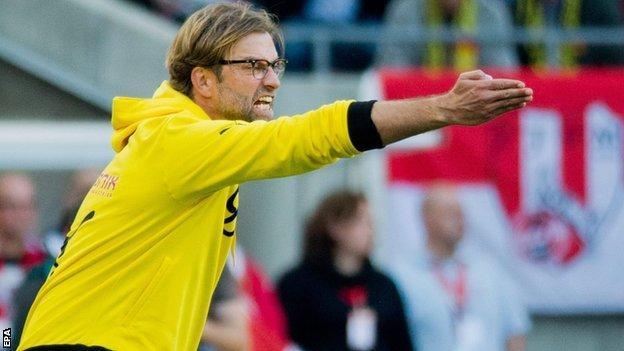 Borussia Dortmund coach Jurgen Klopp