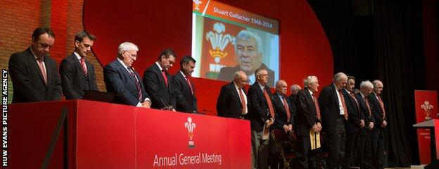 Delegates held a minute's silence for Stuart Gallacher before the AGM