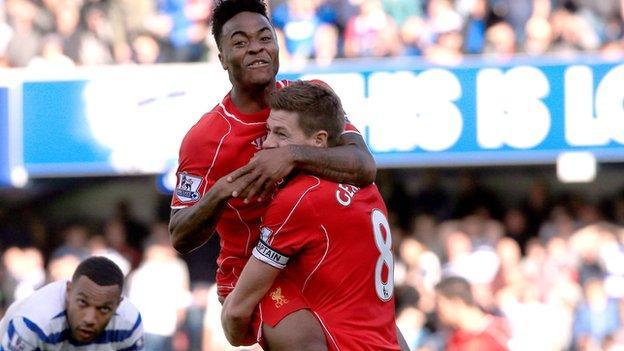 QPR 2-3 Liverpool - Raheem Sterling and Steven Gerrard