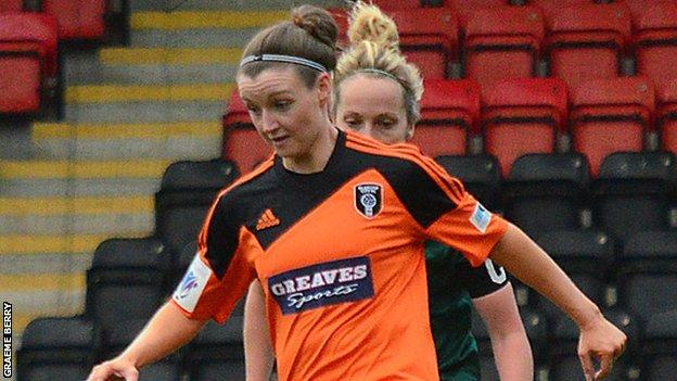 Glasgow City player Susan Fairlie