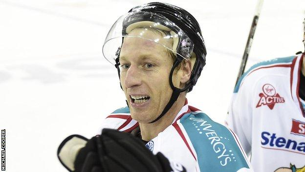 Mike Kompon of the Belfast Giants