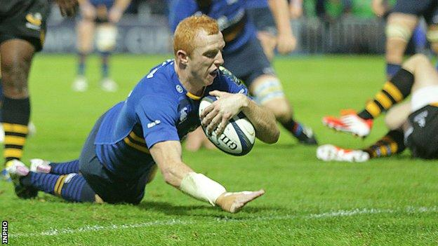 Darragh Fanning completes his brace in Leinster's win over wasps