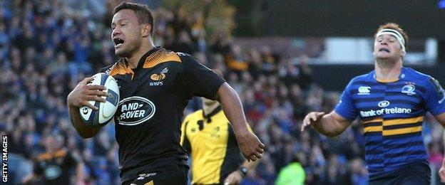 Alapati Leiua's try put Wasps in charge but they were battered in the second half