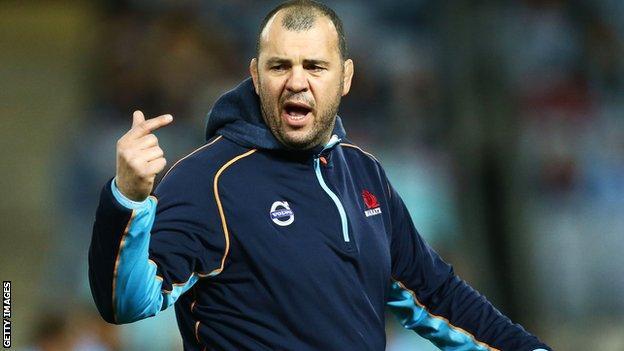 New South Wales Waratahs coach Michael Cheika