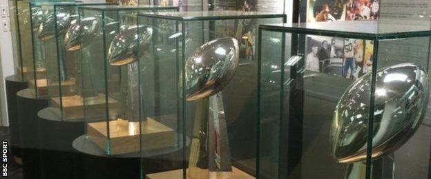 Steelers trophies