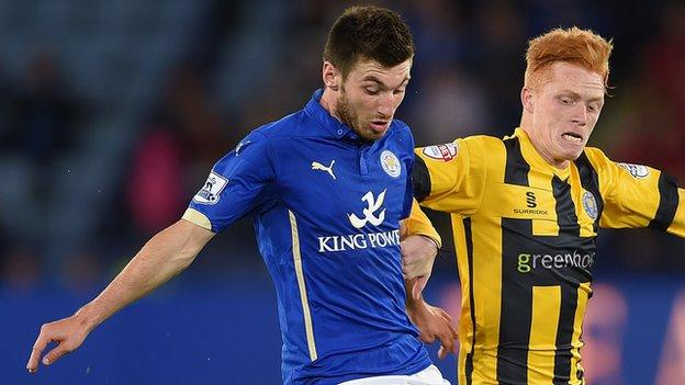 Leicester City midfielder Michael Cain