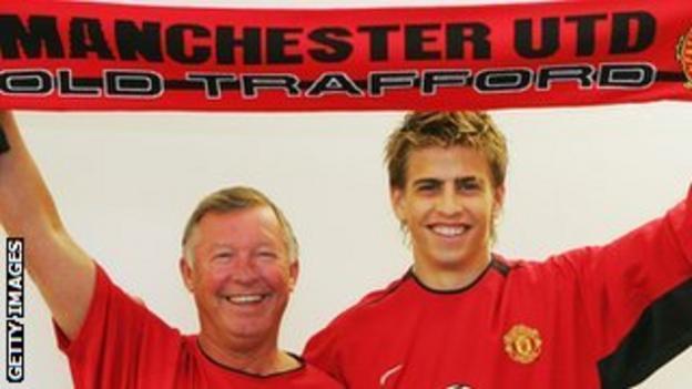 Sir Alex Ferguson and Gerard Pique