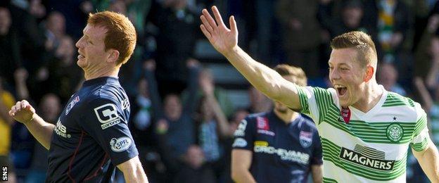 Celtic's Callum McGregor celebrates scoring against Ross County