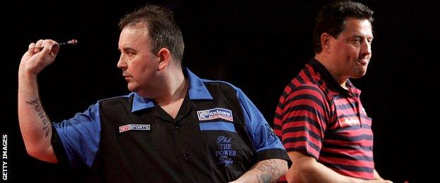 Phil Taylor and Dennis Priestley