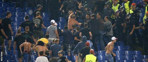 CSKA Moscow's latest sanction came as a result of crowd disturbances in their Group E opener at Roma