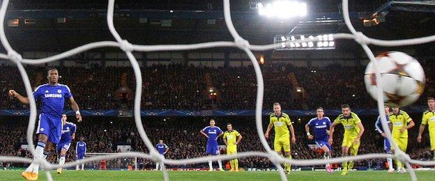 Didier Drogba's penalty marked his first goal since returning to Chelsea
