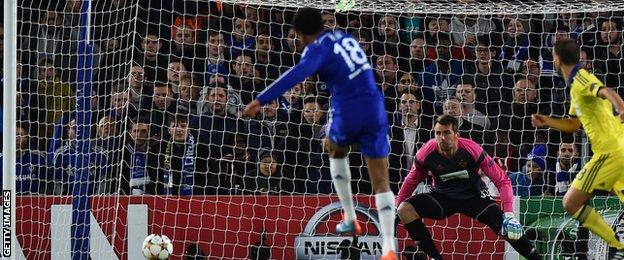 Loic Remy injured himself after scoring Chelsea's opener against Maribor