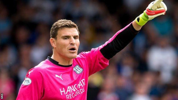 Dundee goalkeeper Kyle Letheren