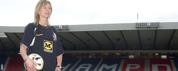 Scotland manager Anna Signeul