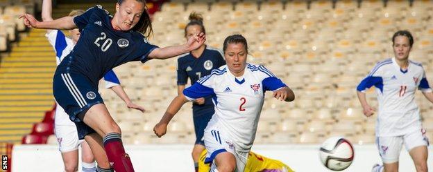 Caroline Weir scores for Scotland