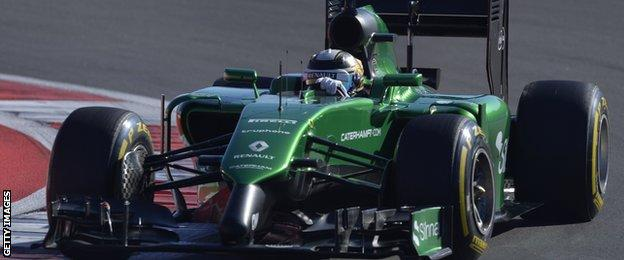 Caterham's Japanese driver Kamui Kobayashi during the Russian Grand Prix