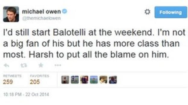 Michael Owen tweet