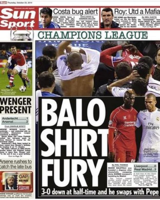 The Sun's back page