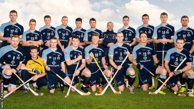 Scotland's shinty team take a 3-1 lead to Newry