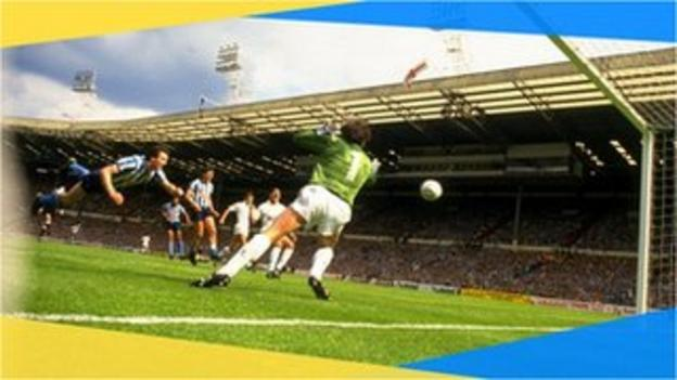 Coventry City's Keith Houchen's diving header in the 1987 FA Cup final against Tottenham