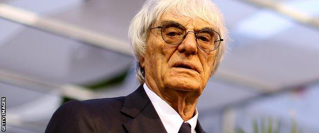 Bernie Ecclestone at the Singapore Grand Prix