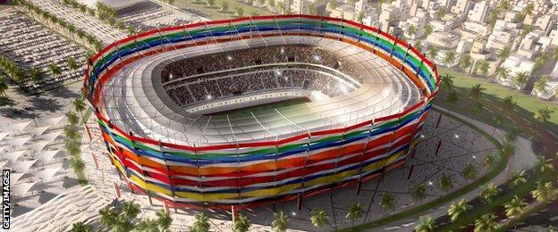 Proposed Qatar 2022 Stadium in Doha