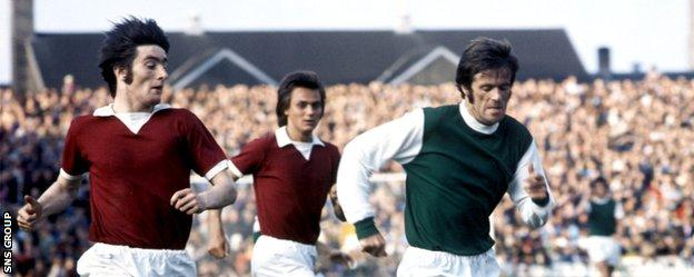 Pat Stanton enjoyed derby tussles with Hearts as a player between 1963–1976