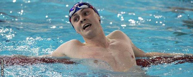 Ross Murdoch won two Commonwealth medals in the Tollcross pool