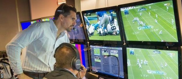 Dean Blandino oversees the Game Day Central operation