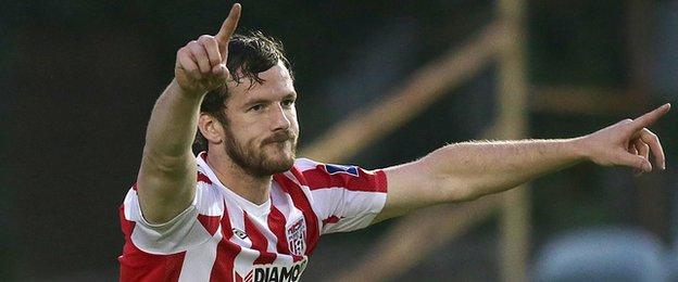 Derry could be without defender Ryan McBride for the FAI Cup final