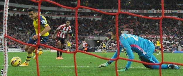 Arsenal's Alexis Sanchez capitalises on Vito Mannone's error