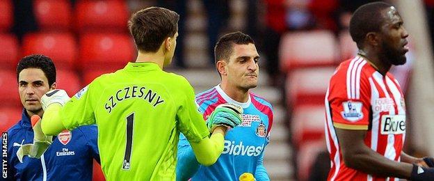Sunderland's Vito Mannone