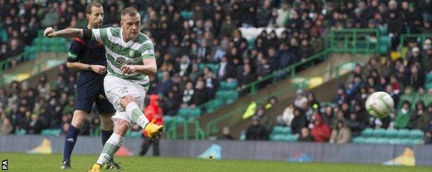 John Guidetti scores for Celtic against Kilmarnock