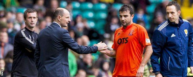 Kilmarnock manager Allan Johnston and midfielder Alexei Eremenko