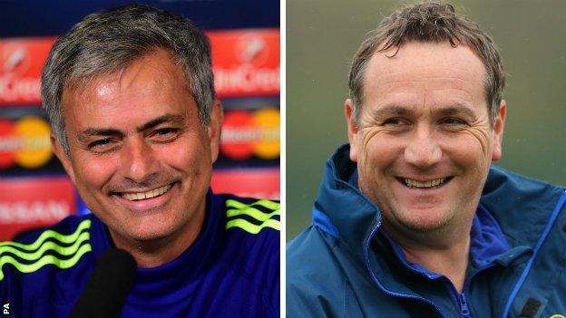 Jose Mourinho and Micky Mellon